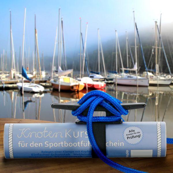 Klampe mit Kopfschlag - Knotenkurs Seemannsknoten Bootsführerschein SBF achtknoten.de