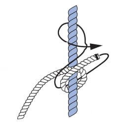 Knoten Stopperstek - Schritt 1 - Knotenkurs Sportbootführerschein