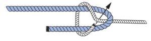 Knoten Einfacher Schotstek - Knotenkurs Sportbootführerschein