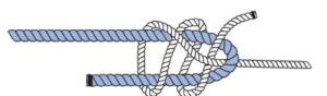 Knoten Doppelter Schotstek - Schritt 1 - Knotenkurs Sportbootführerschein